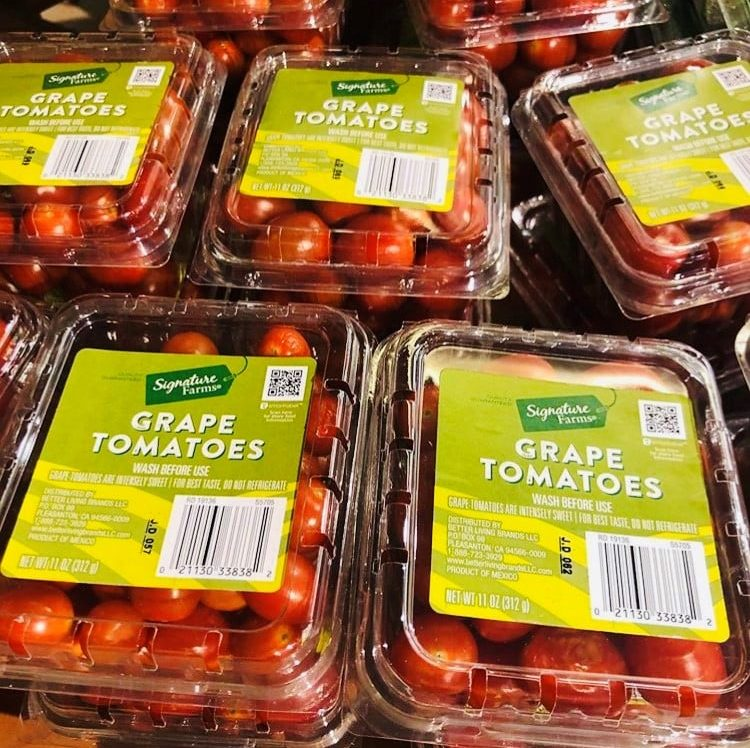 GRAPE TOMATOES LABEL